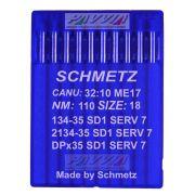 Agulha Schmetz Para Máquina De Costura 134-35 SD 1 SERV 7 110/18 Caixa Com 100 Unidades