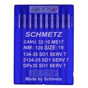 Agulha Schmetz Para Máquina De Costura 134-35 SD 1 SERV 7 120/19 Caixa Com 100 Unidades