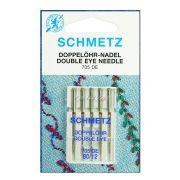 Agulha para Máquina de Costura Domestica 130/705 DE Dois Olhos Schmetz