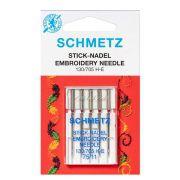 Agulha Para Máquina De Costura Domestica 130/705 H-E Bordado Schmetz