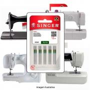 Agulha Singer Para Máquina de Costura Domestica 2045 130/705 Cabo Dourado