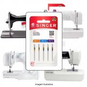 Agulha Singer Para Máquina de Costura Domestica 2045 130/705 Cabo Dourado Kit