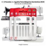 Agulha Singer Para Máquina de Costura Domestica 2045 130/705 (KIT Com 3 Pacotes)