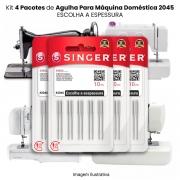 Agulha Singer Para Máquina de Costura Domestica 2045 130/705 (KIT Com 4 Pacotes)