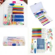 Kit Completo Com Estojo Organizador Para Crochê