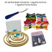 Kit Iniciante Bordado + Ponto Russo + Agulha Smirna