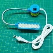 Luminária Led Com Haste Flexível e Tomada Para Máquina Costura 30 LEDS