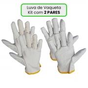 Luva De Vaqueta Cano Curto Kit com 2 Pares