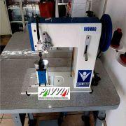 Máquina de costura de coluna IVOMAQ CI 3000 - 204 TI 2 Agulhas transporte triplo de calcador
