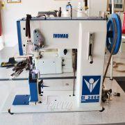 Máquina De Costura De Coluna IVOMAQ CI 3000 - 4DI Transporte Duplo Lançadeira Grande  Com Motor Eletrônico