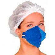 Máscara Respiratória Semifacial N95 Antiviral PFF2 Sem Válvula - ALLIANCE-UAL200700 Kit Com 10 Unidades