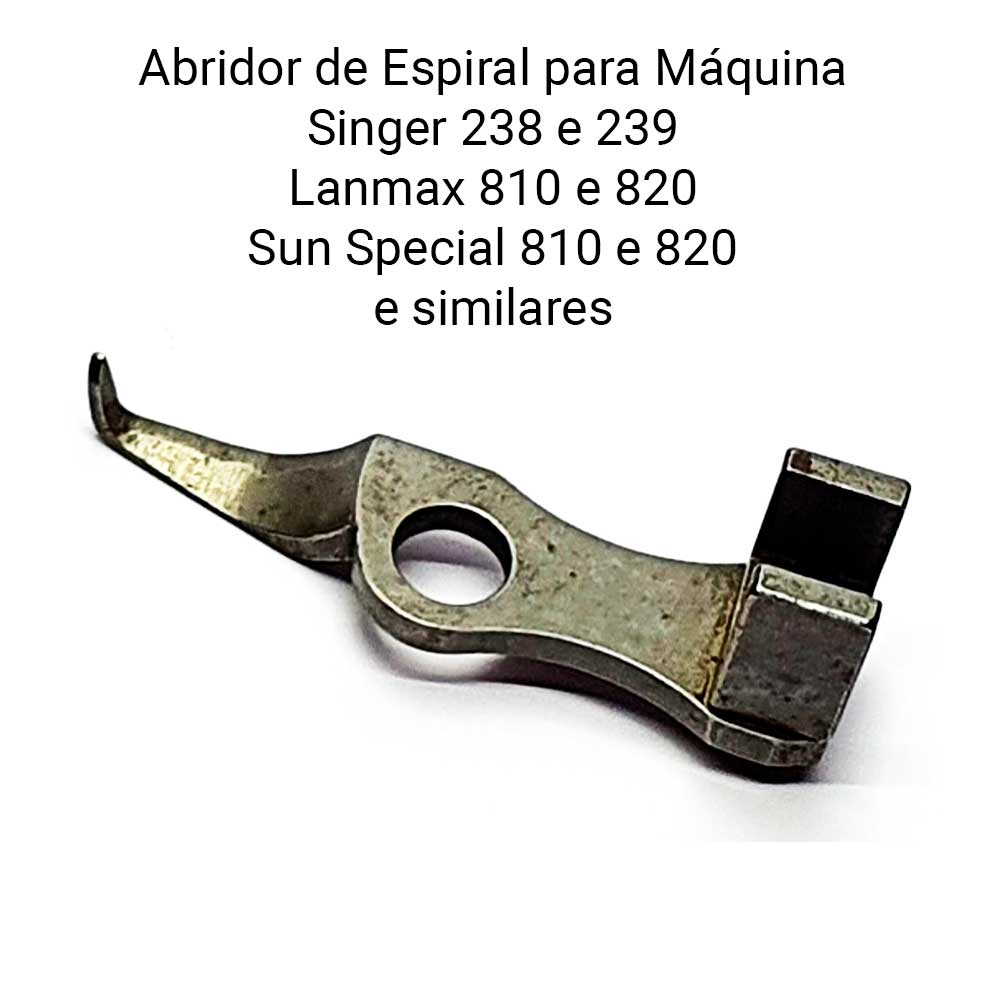 Abridor de Espiral para Máquina Singer 238, 239 e Similares 810, 820  - Pavvia Agulhas e Peças
