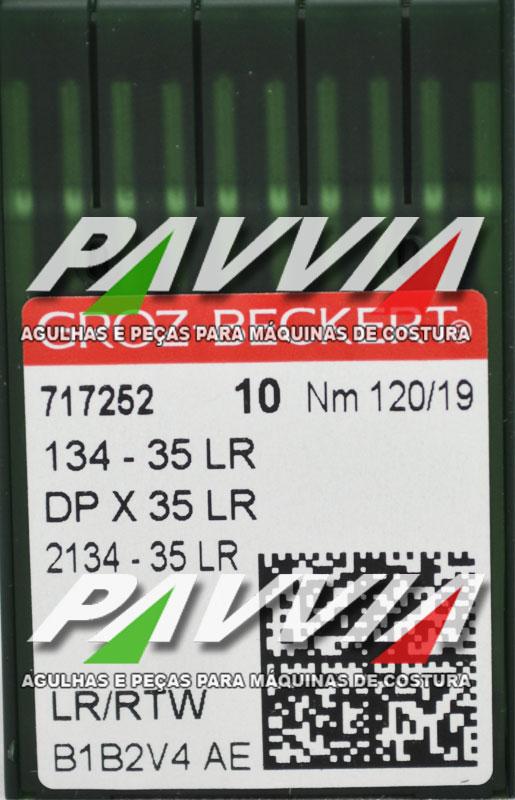 Agulha 134-35 LR 120/19 GROZ-BECKERT  Agulha longa, Pacote com 10 unidades