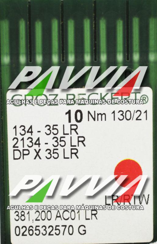 Agulha 134-35 LR 130/21 GROZ-BECKERT  Agulha longa,  Pacote com 10 unidades