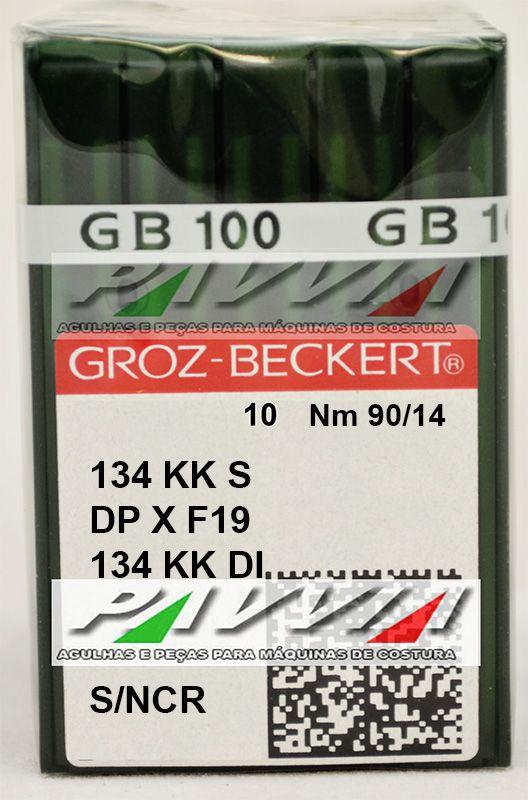 Agulha para máquina de costura couro 134 KK S .90/14 Groz-Beckert Caixa  - Pavvia Agulhas e Peças
