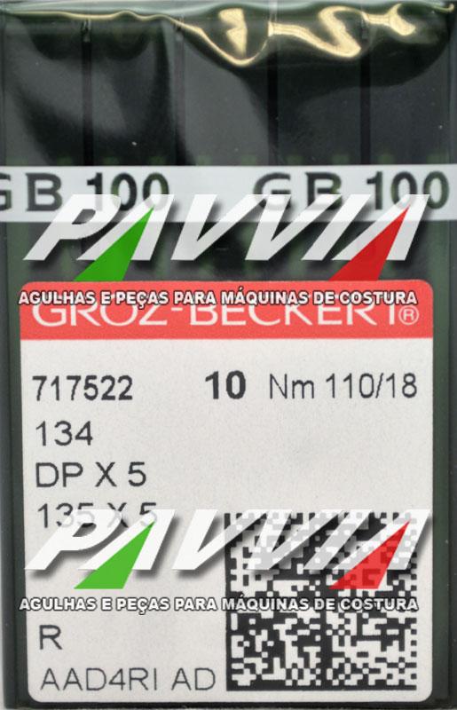 Agulha 134 R ou DPx5 R 110/18  GROZ-BECKERT Caixa com 100 unidades