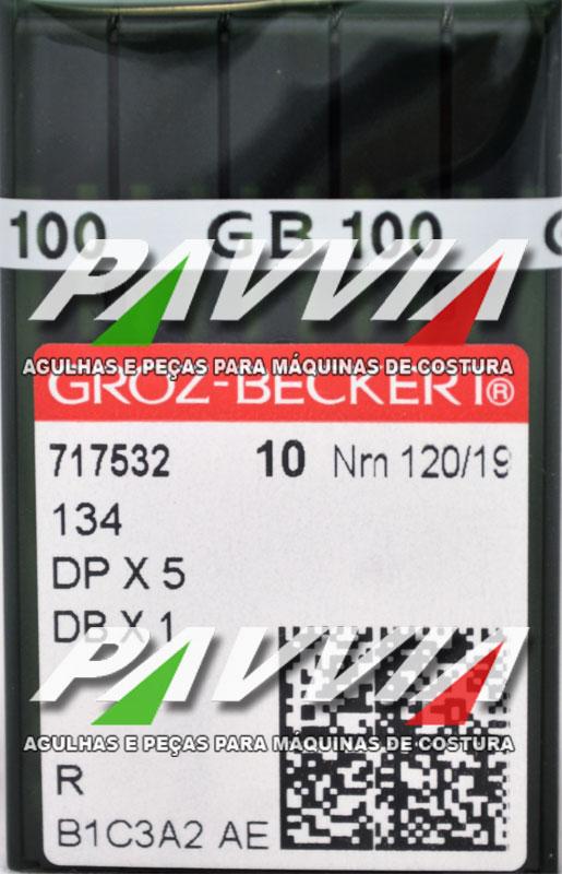 Agulha 134 R ou DPx5 R 120/19 GROZ-BECKERT Pacote com 10 unidades