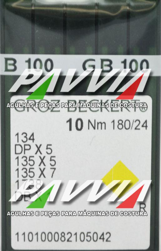 Agulha para Máquina de Costura 134 R ou DPx5 R 180/24 GROZ-BECKERT  Caixa com 100 unidades  - Pavvia Agulhas e Peças
