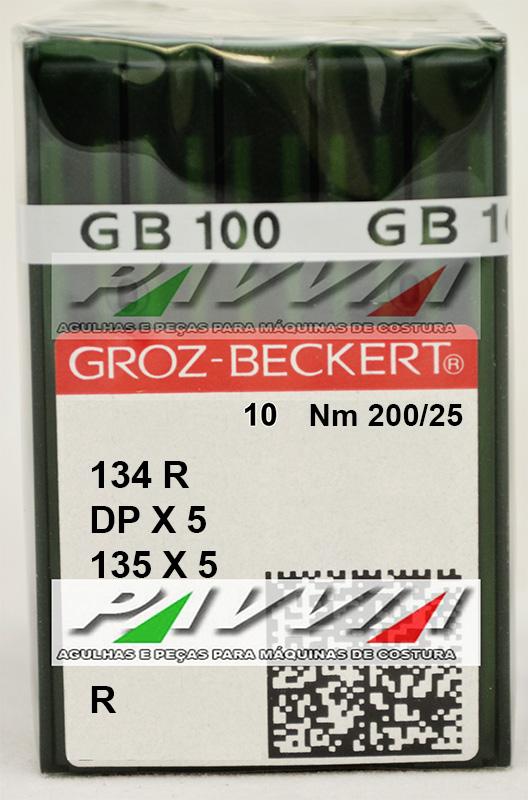 Agulha 134 R ou DPx5 R 200/25 GROZ-BECKERT  Caixa com 100 unidades