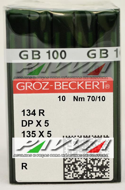 Agulha 134 R ou DPx5 R .70/10 GROZ-BECKERT Caixa