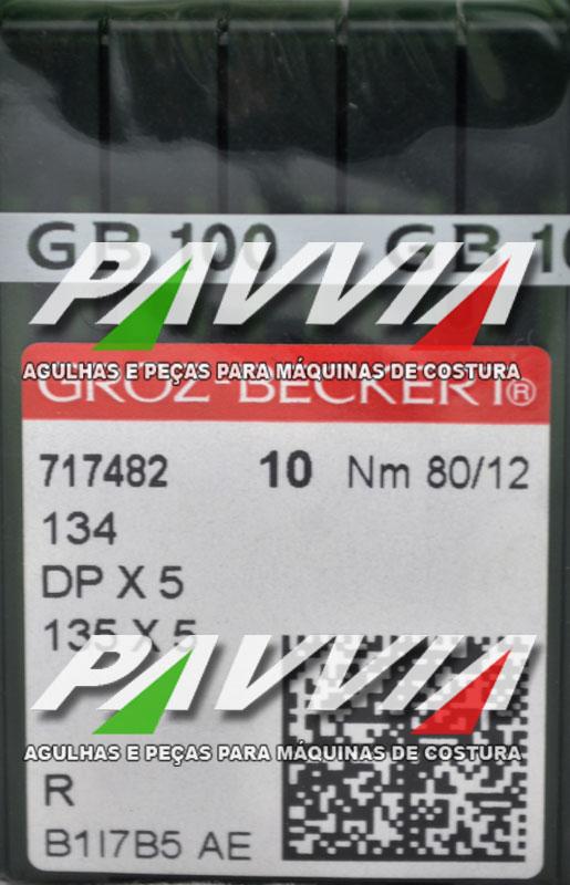 Agulha 134 R ou DPx5 R .80/12 GROZ-BECKERT Pacote