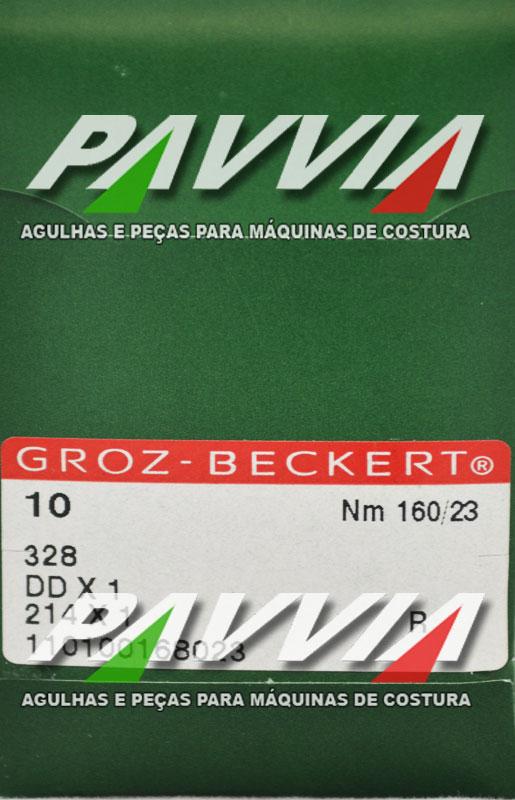 Agulha 328 ou DDx1 R 160/23 GROZ-BECKERT Ponta redonda R Pacote com 10 unidades