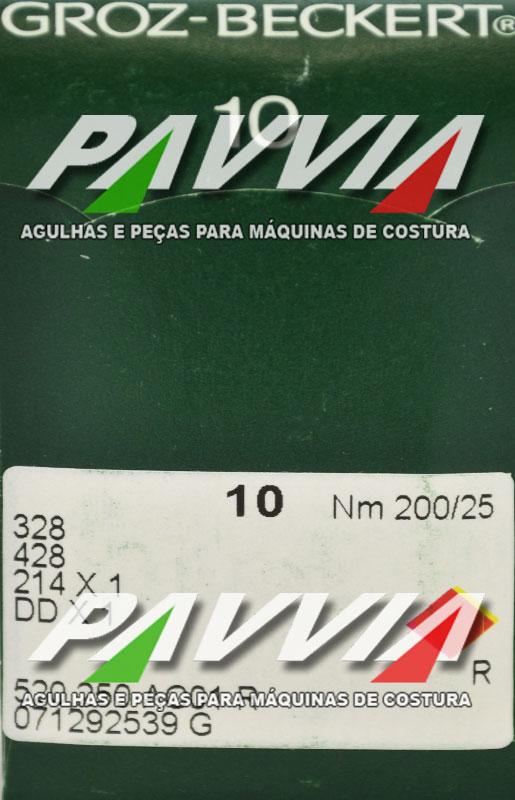 Agulha 328 ou DDx1 R 200/25 GROZ-BECKERT Ponta redonda R  Pacote com 10 unidades