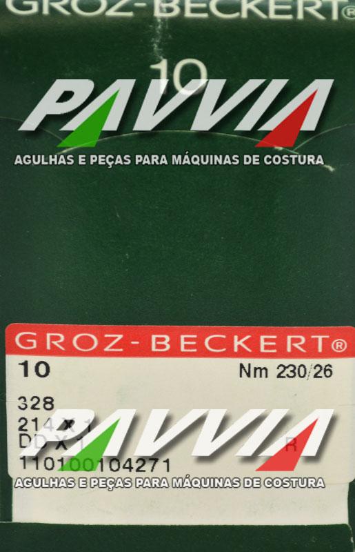 Agulha 328 ou DDx1 R 230/26 GROZ-BECKERT Ponta redonda R  Pacote com 10 unidades