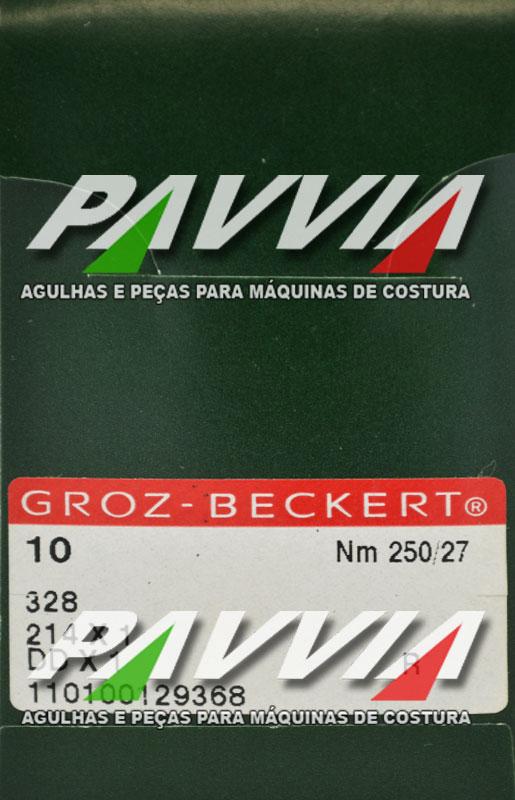 Agulha 328 ou DDx1 R 250/27 GROZ-BECKERT Ponta redonda R  Pacote com 10 unidades