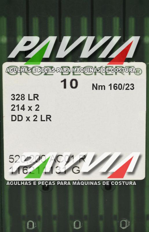 Agulha 328 ou DDx2 LR 160/23 GROZ-BECKERT Ponta cortante LR  Pacote com 10 unidades