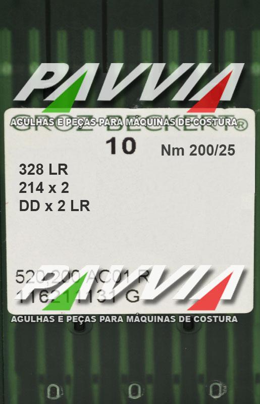 Agulha 328 ou DDx2 LR 200/25 GROZ-BECKERT Ponta cortante LR Pacote com 10 unidades