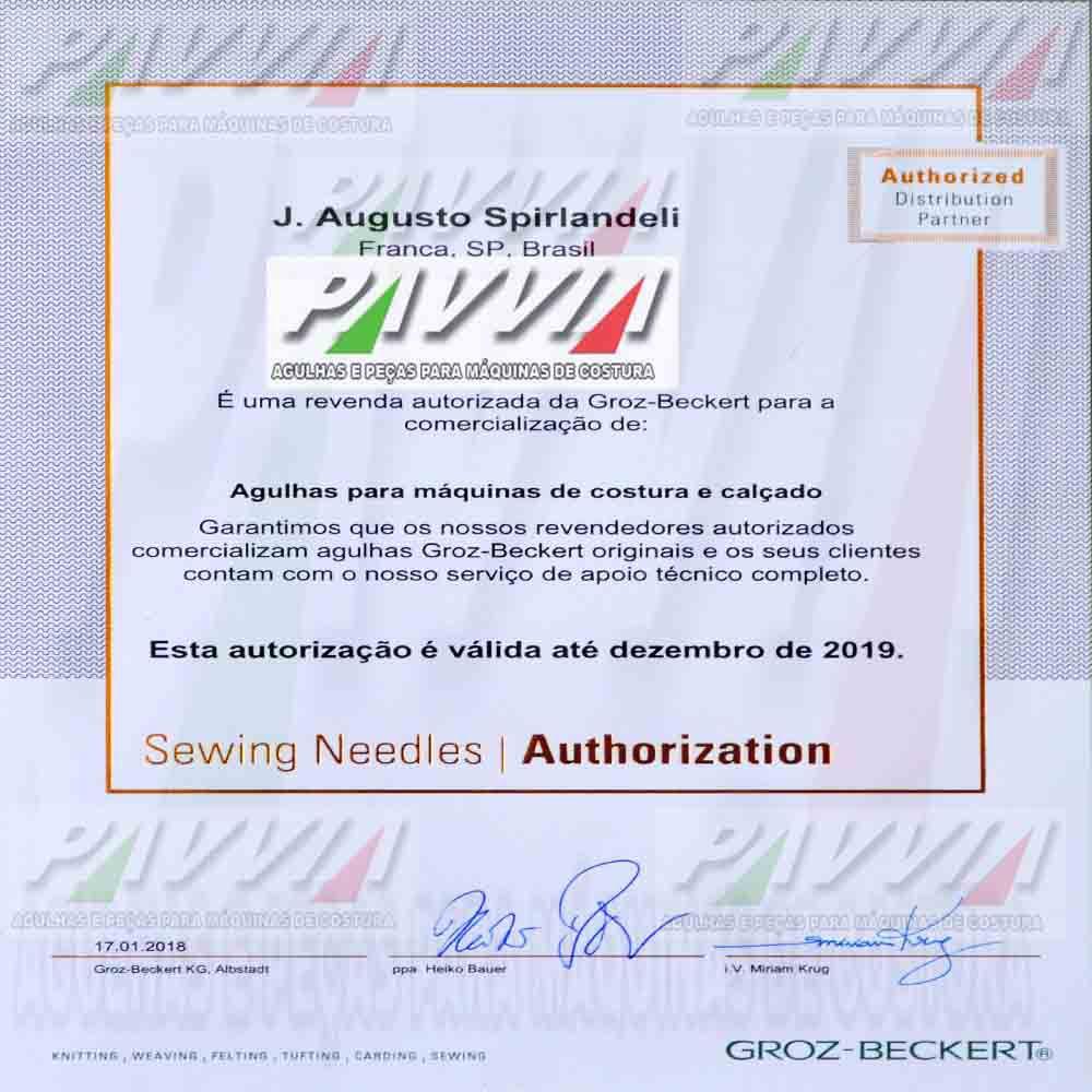 Agulha B 63 ou DV X 63 FFG 100/16 GROZ-BECKERT Pacote