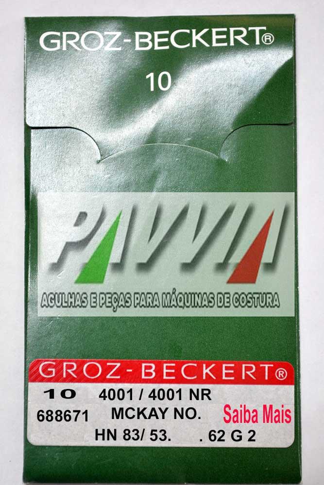 Agulha Curta Groz-Beckert Para Máquina De Costura Blaqueadeira Ivomaq 4001 HN 83/ 53  - Pavvia Agulhas e Peças