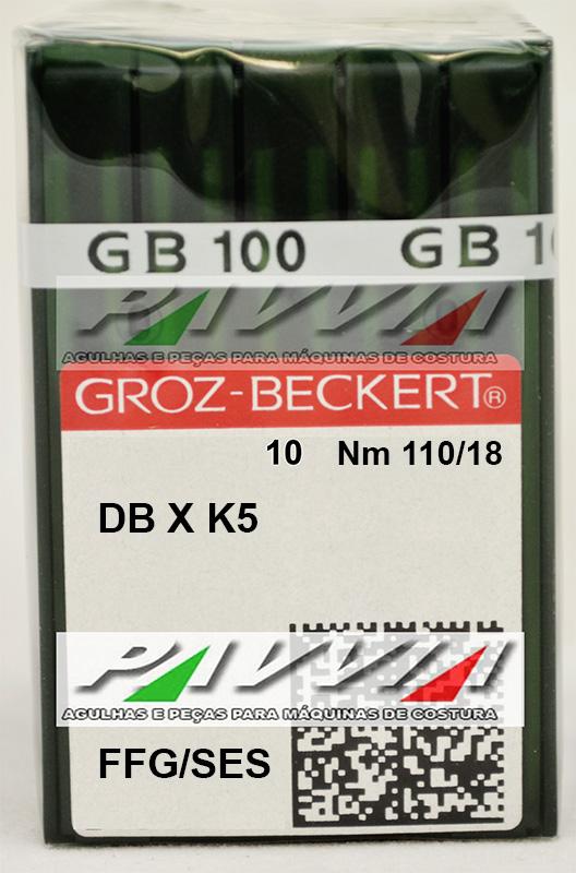 Agulha DBXK5 FFG 110/18 GROZ-BECKERT  Pacote com 10 unidades