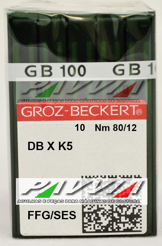 Agulha DBXK5 FFG .80/12 GROZ-BECKERT  Pacote com 10 unidades