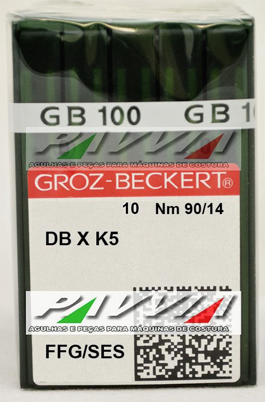 Agulha DBXK5 FFG .90/14 GROZ-BECKERT  Pacote com 10 unidades  - Pavvia Agulhas e Peças
