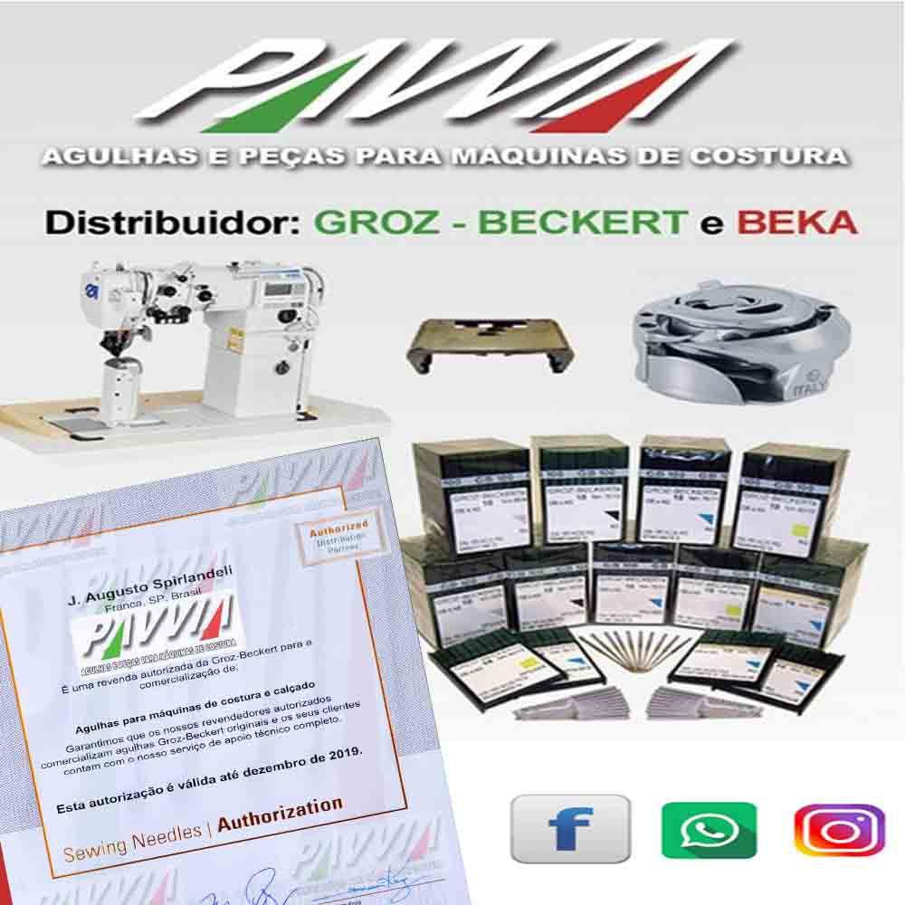 Agulha Groz-Beckert para máquina de costura blaqueadeira IVOMAQ 4001 3 210 Curta  - Pavvia Agulhas e Peças