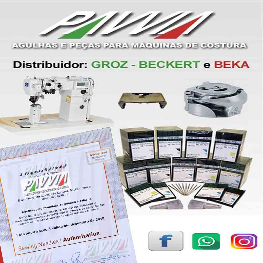 Agulha Groz-Beckert para máquina de costura blaqueadeira IVOMAQ 4058 N 8 285 Longa   - Pavvia Agulhas e Peças