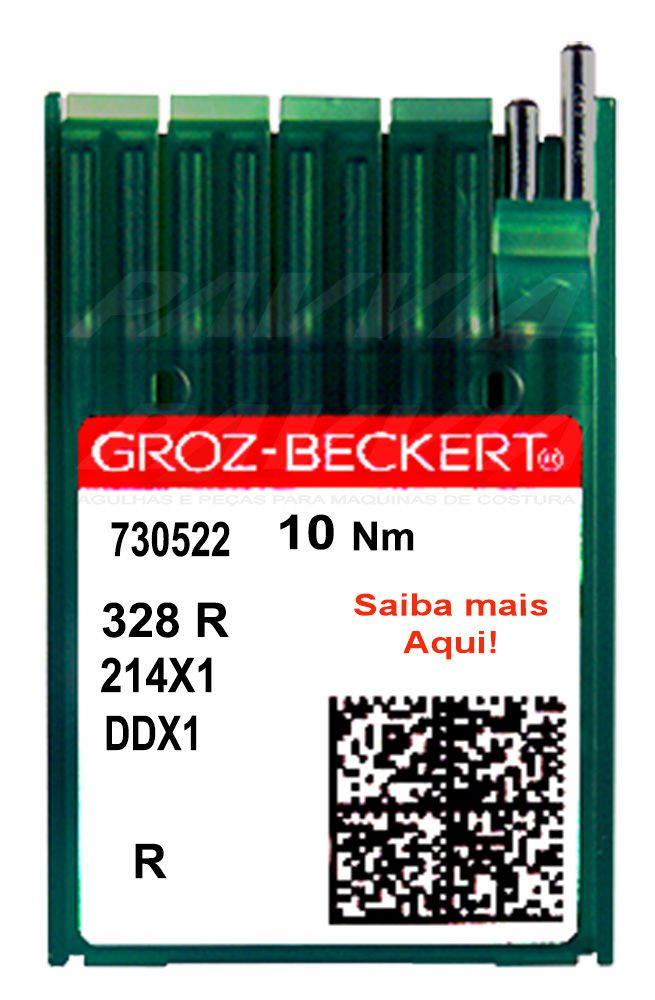Agulha Groz-Beckert para máquina de costura de selaria, 328 R  DDx1 Pacote com 10 unidades  - Pavvia Agulhas e Peças