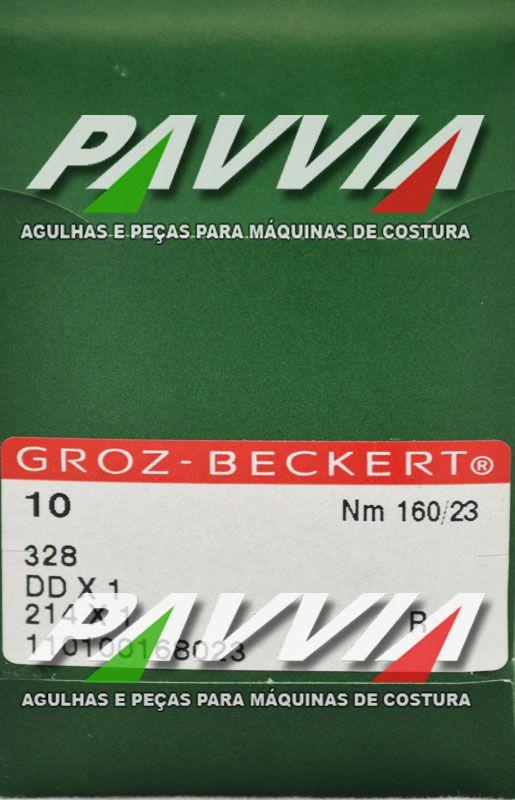 Agulha Groz-beckert para máquina de costura de selaria 328 R  DDx1 160/23  - Pavvia Agulhas e Peças