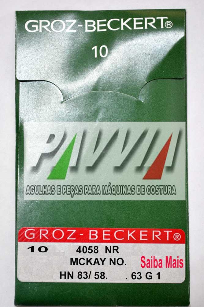 Agulha Longa Groz-Beckert para máquina de costura blaqueadeira Ivomaq 4058  HN 83/ 58  - Pavvia Agulhas e Peças