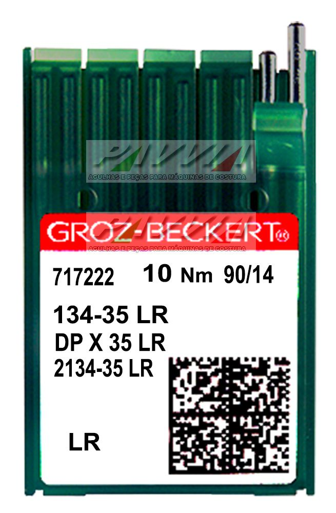 Agulha longa para máquina de costura industrial 134-35 LR 90/14  Groz-Beckert Caixa   - Pavvia Agulhas e Peças