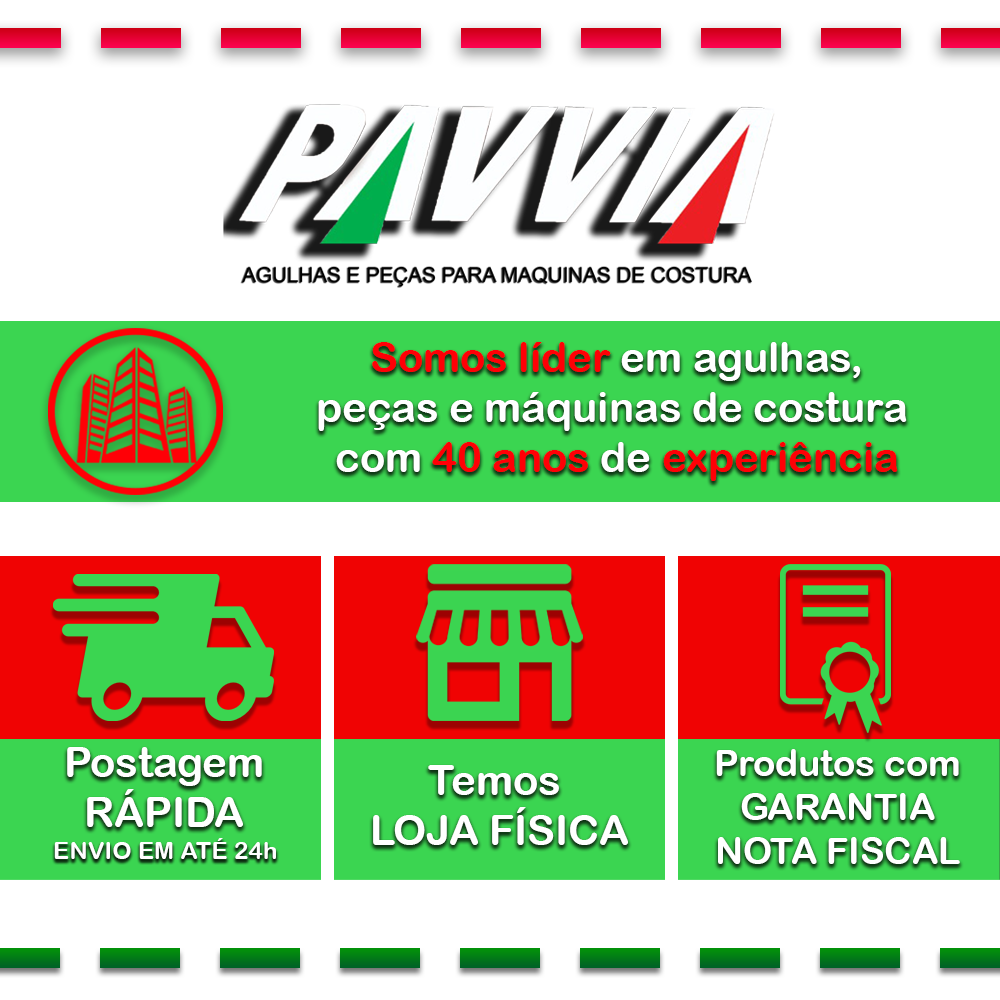 Agulha Longa Para Máquina De Costura Industrial 134-35 LR  Pacote Com 10 Unidades  - Pavvia Agulhas e Peças