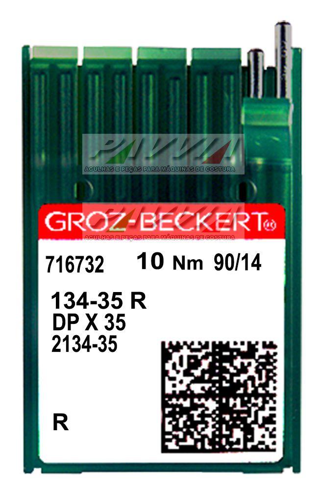 Agulha longa para máquina de costura industrial 134-35 R   .90/14 Groz-Beckert Pacote  - Pavvia Agulhas e Peças