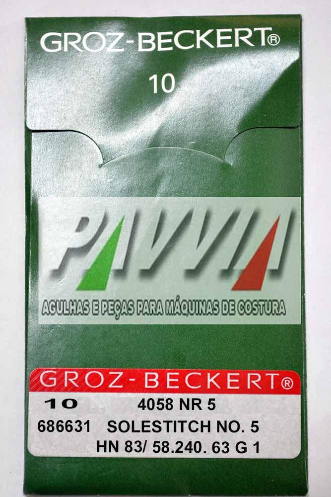 Agulha Groz-Beckert para máquina de costura blaqueadeira IVOMAQ 4058 5 240 Longa  - Pavvia Agulhas e Peças