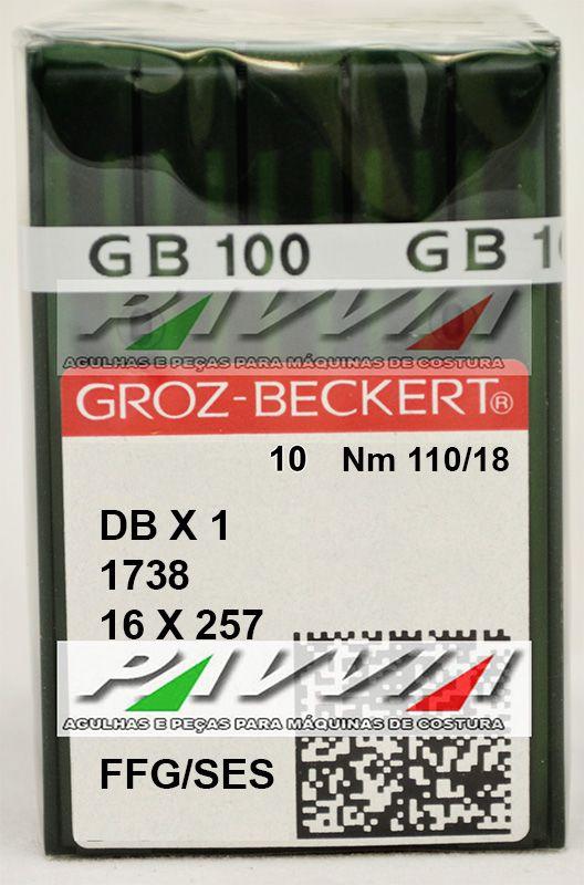 Agulha Para Maquina Cabo Fino 1738 ou DB X 1 FFG / SES 110/18 Pacote com 10 unidades