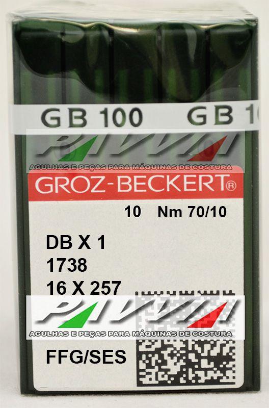 Agulha Para Maquina Cabo Fino 1738 ou DB X 1 FFG / SES .70/10 Caixa com 100 unidades