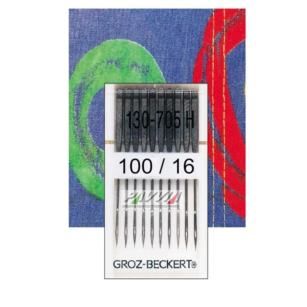 Agulha para Máquina de Costura Domestica 130/705 100/ 16 P  - Pavvia Agulhas e Peças