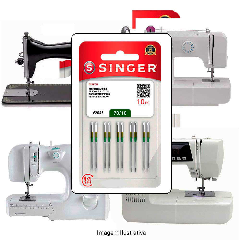 Agulha Singer Para Máquina de Costura Domestica 2045 130/705 Cabo Dourado  - Pavvia Agulhas e Peças