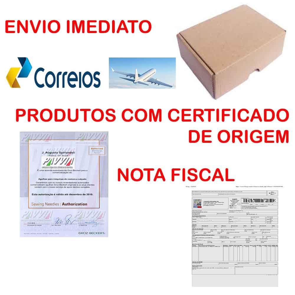 Agulha Singer para máquina de costura Fechadeira TVX5 149X5 RG 120/19 Pacote  - Pavvia Agulhas e Peças
